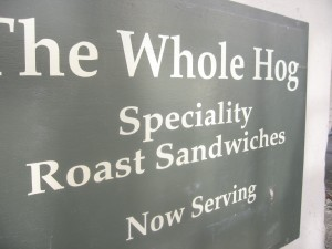 One whole hog please...